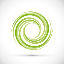 Vector Green Vortex Background