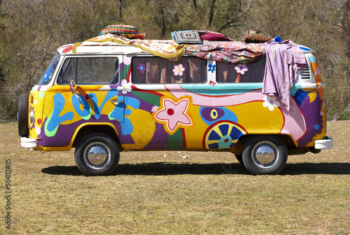 Hippie van Wallpaper Mural
