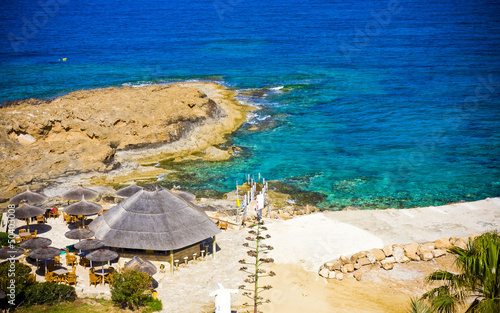 Foto op Plexiglas Cyprus amazing colorful beach in Cyprus
