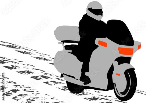 Poster Motocyclette Bike motor