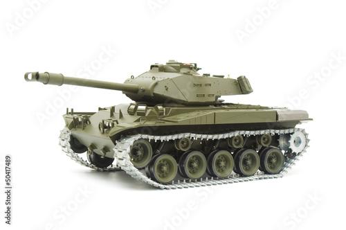 Photo  U.S. Bulldog tank model on white background