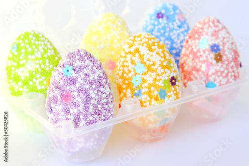 Poster Confiserie Pastel colors Easter eggs
