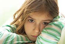 Sad Child-Girl With Sad Face