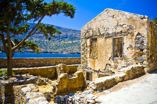 Fotomural Spinalonga Fortress Greece - Last Active Leprosy Colony