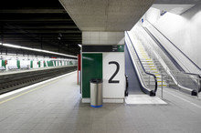 Railway Station With Signposti...