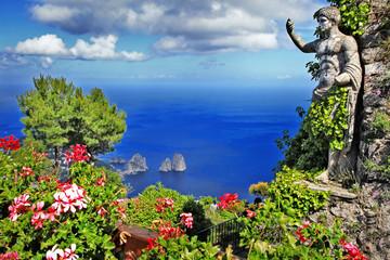 Fototapeta Morze beautiful Capri island, Italy