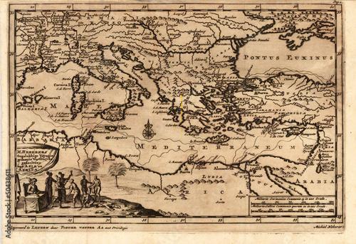 mediterranian-vintage-map