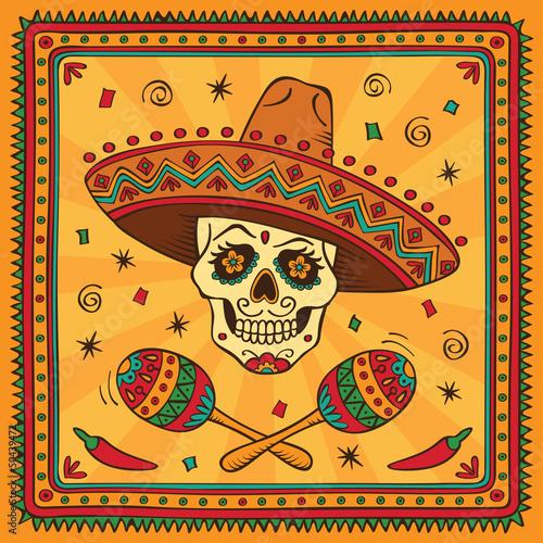 Fotografía  Mexican sugar skull