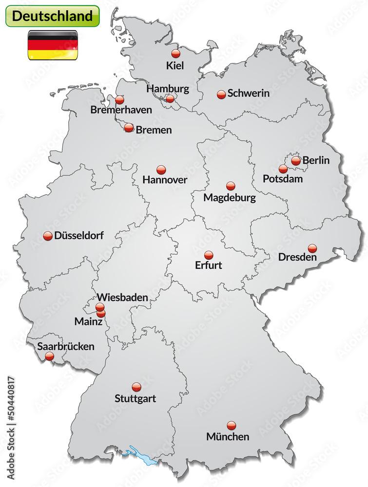 Gamesageddon Stock Landkarte Von Deutschland Mit Bundeslandern