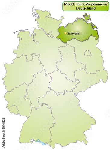 Landkarte Von Deutschland Und Mecklenburg Vorpommern Buy This
