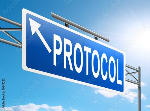 Fotografía  Protocol concept.
