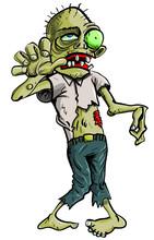 Cartoon Zombie Grasping Forwar...