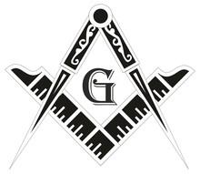 Freemasonry Emblem - The Masonic Square And Compass Symbol,