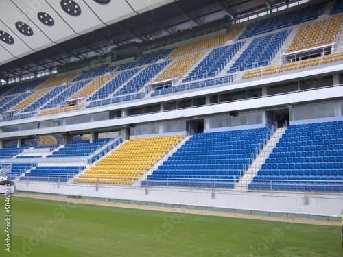 Foto op Plexiglas Stadion stadium blue