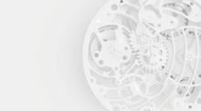 White Clock Mechanism