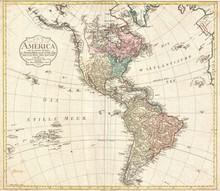 Americas Vintage Map