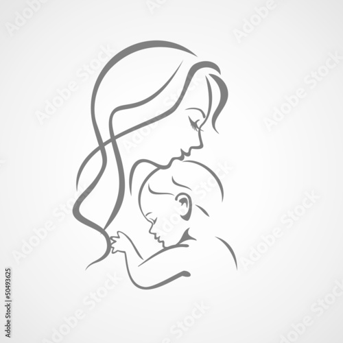 Photographie  Mère qui aime son bébé