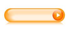Orange Web Button (rectangular Arrow Vector Gel Contact)