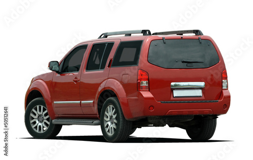 Carta da parati Rear side view of a red suv