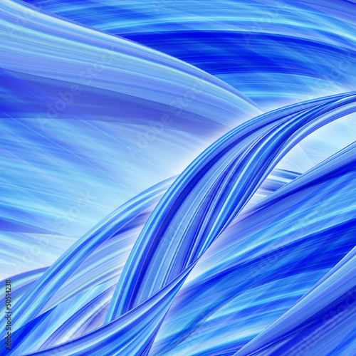 Fotografie, Obraz  Abstract blue background illustration