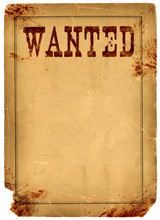Blood Stained Wanted Poster 18...