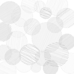 NaklejkaVector pancil drawn circles background