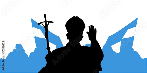 Saluto del Papa - pellegrini Canvas Print
