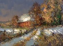 Winter Landschaft Malerei