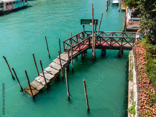 Tuinposter Pier little bridge