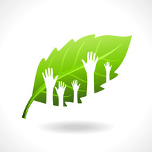 Many Hands Standing For Save Green