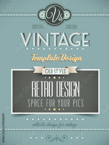 Papiers peints Affiche vintage Vintage retro page template or cover