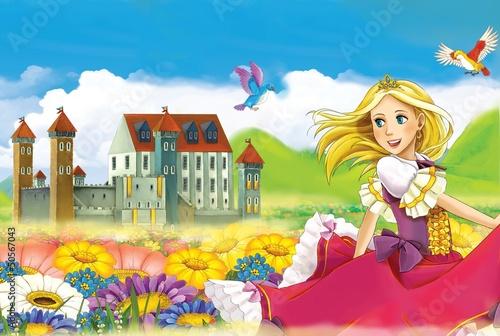 Obraz Wróżka - piękna dziewczyna manga - ilustracja - fototapety do salonu