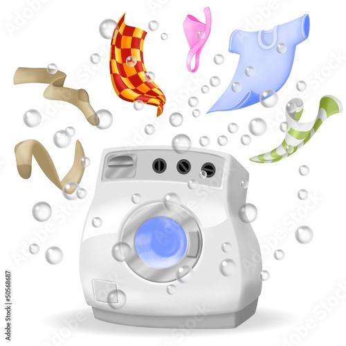 Fotografie, Obraz  lavatrice esplosa