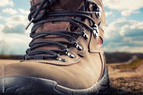 Fotografiet Hiking boot outdoor