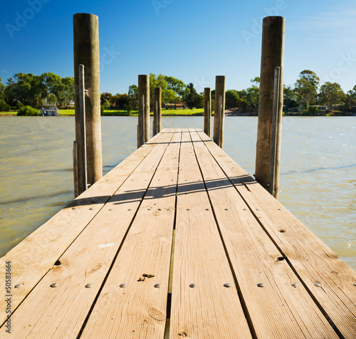 Tuinposter Pier Murray River Jetty