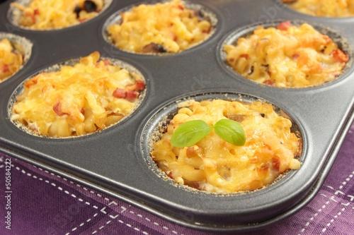 Photo  pasta muffins