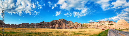 Scenic view at Badlands National Park, South Dakota, USA Canvas Print