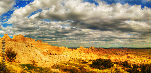 Keuken foto achterwand Rood traf. Scenic view at Badlands National Park, South Dakota, USA