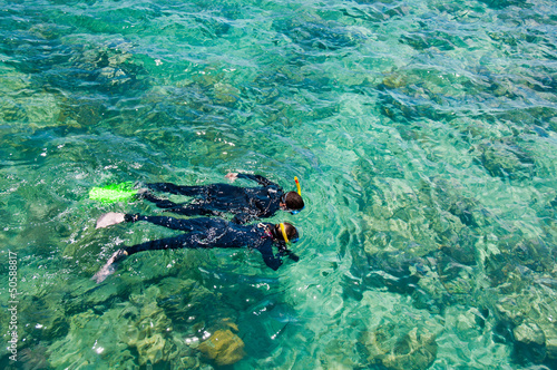 In de dag Australië Snorkelers, Great Barrier Reef, Australia