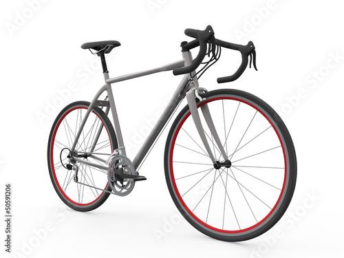 Cadres-photo bureau Velo Speed Racing Bicycle Isolated on White Background