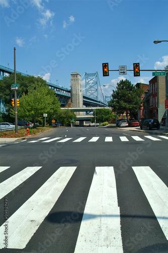 Fotografía  pont et passage piéton de Philadelphie