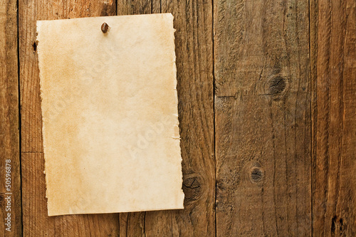 Obraz Old rustic aged wanted cowboy sign on parchment - fototapety do salonu