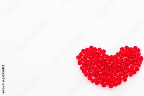 Photo Heart shape red beads