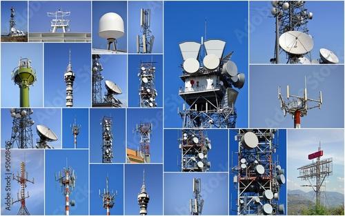 Collage di antenne Fotobehang