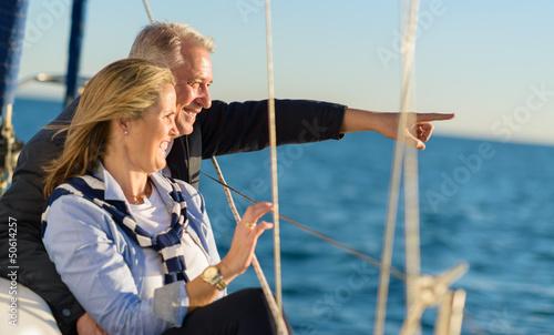 In de dag Schip Portrait Of Happy Mature Couple