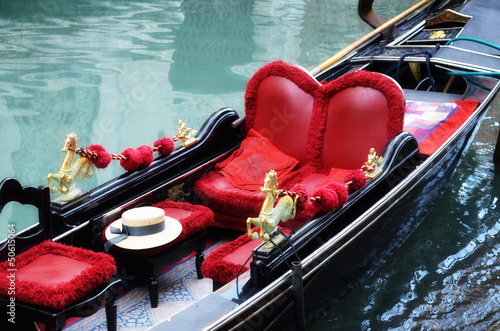 Cadres-photo bureau Gondoles Venetian typical boat - gondola