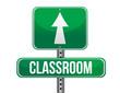 classroom road sign