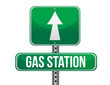 gas station road sign