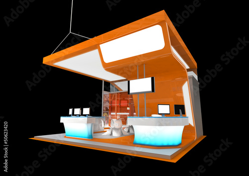 Modern Exhibition Stand Near Me : Modern exhibition stand isolated on black buy this stock