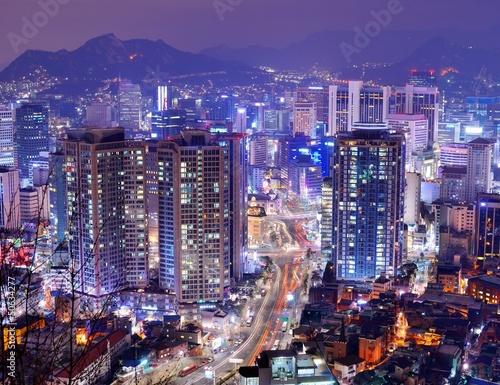 Photo sur Aluminium Seoul Seoul Cityscape